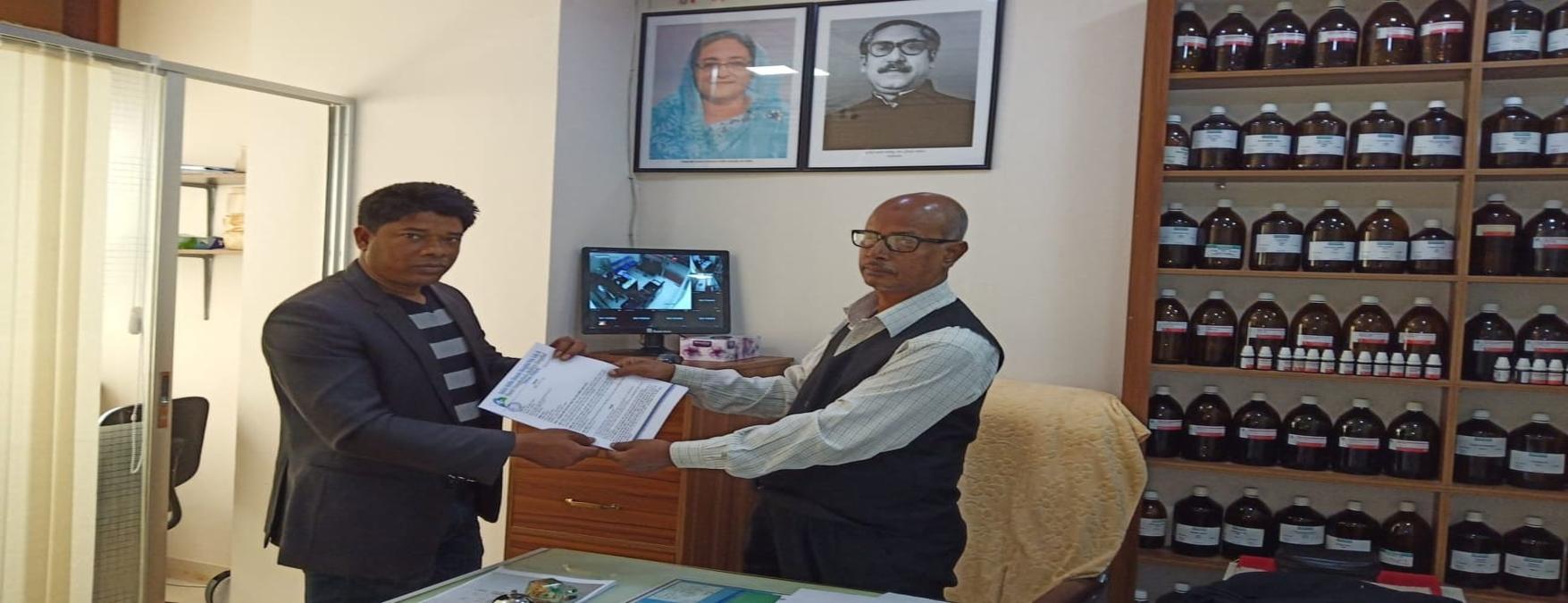 ভারত বাংলাদেশ মৈত্রী হাসপাতালের সাথে চুক্তিপত্র গ্রহন  করেন রূফ্ ফাউন্ডেশনের নির্বাহী পরিচালক